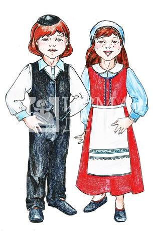 Картинки евреев в национальных костюмах, днем штаба